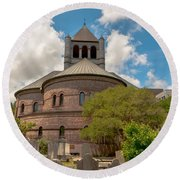 Circular Congregational Church  Round Beach Towel