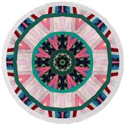 Circular Patchwork Art Round Beach Towel