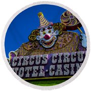 Circus Circus Round Beach Towel
