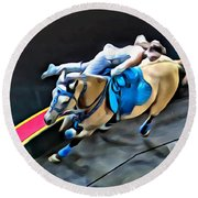 Circus Horse Trickster Round Beach Towel