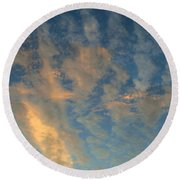 Cirrocumulus Morning Round Beach Towel