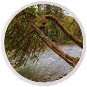 Cispus River At Iron Creek - Washington State Round Beach Towel