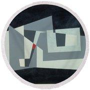 Citadel, Version 3, 1982 Oil On Hardboard Round Beach Towel