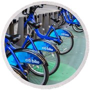 Citibike Rentals Nyc Round Beach Towel
