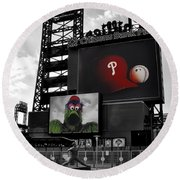 Citizens Bank Park Philadelphia Round Beach Towel by Bill Cannon