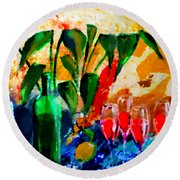 Citro Round Beach Towel