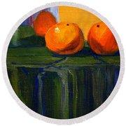 Citrus Chrome Round Beach Towel