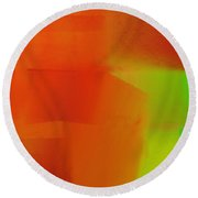 Citrus Connections Abstract Square 2 Round Beach Towel