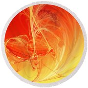 Citrus Infusion Round Beach Towel