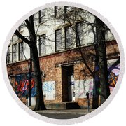 City Art Round Beach Towel