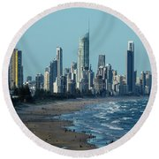 City At The Waterfront, Surfers Round Beach Towel
