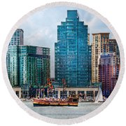 City - Baltimore Md - Harbor East  Round Beach Towel