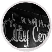 City Center Round Beach Towel