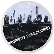 City For Sale Round Beach Towel