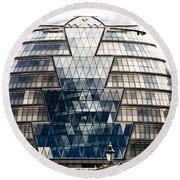 City Hall London Round Beach Towel by Christi Kraft