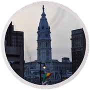 City Hall Philadelphia Round Beach Towel