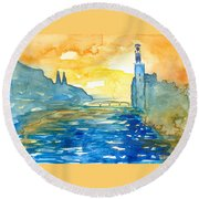 City Hall Stockholm Round Beach Towel