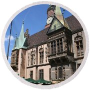 City Hall Wroclaw Round Beach Towel