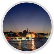 Colours Of Istanbul Round Beach Towel