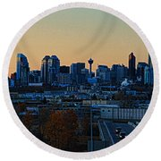 City Of Calgary Round Beach Towel