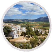 City Of Ronda In Spain Round Beach Towel