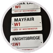 City Of Westminster Round Beach Towel