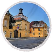 City Of Zagreb Historic Upper Town Round Beach Towel