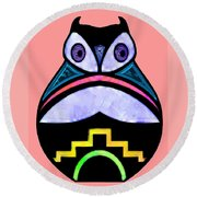 City Owl Round Beach Towel