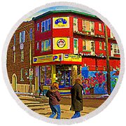City Paint Benjamin Moore Rue Rachel And Hotel And De Ville Montreals Oldest Paint Store  C Spandau  Round Beach Towel