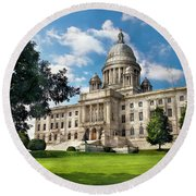 City - Providence Ri - The Capitol  Round Beach Towel