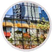 City Reflections By Diana Sainz Round Beach Towel