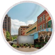 City - Roanoke Va - The City Market Round Beach Towel