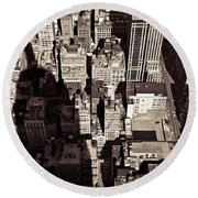 City Shadow Round Beach Towel