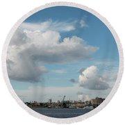 City Skyline, Manaus, Brazil Round Beach Towel
