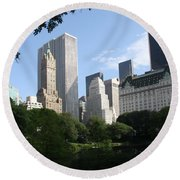 Cityview Form Central Park Round Beach Towel