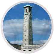 Civic Centre Southampton Round Beach Towel