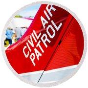 Civil Air Patrol Round Beach Towel