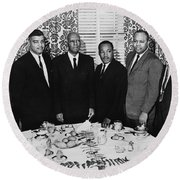 Civil Rights Leaders, 1963 Round Beach Towel