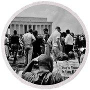 Civil Rights Occupiers Round Beach Towel