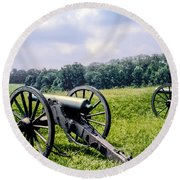 Civil War Cannons Round Beach Towel