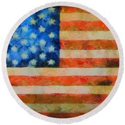 Civil War Flag Round Beach Towel
