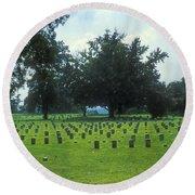 Civil War Gravesites Round Beach Towel