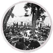 Civil War Hospital, 1862 Round Beach Towel