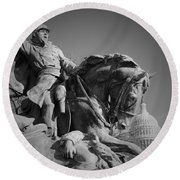 Civil War In Washington Round Beach Towel