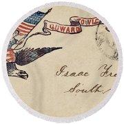Civil War Letter 18 Round Beach Towel