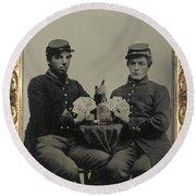 Civil War Soldiers C1863 Round Beach Towel