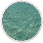 Clear Water Of Guam Round Beach Towel