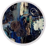 Clafoutis D Emotions - P03k07t Round Beach Towel by Variance Collections