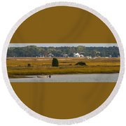Clam Country Round Beach Towel
