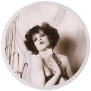 Clara Bow Round Beach Towel